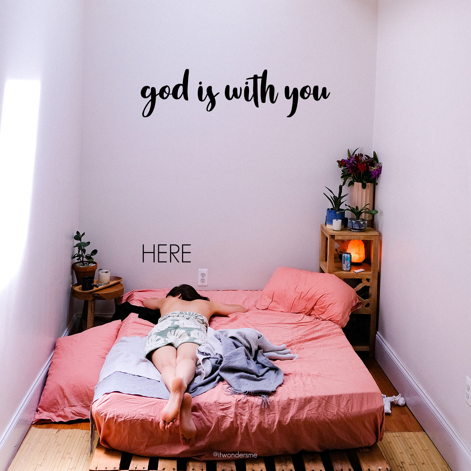 God is with you here