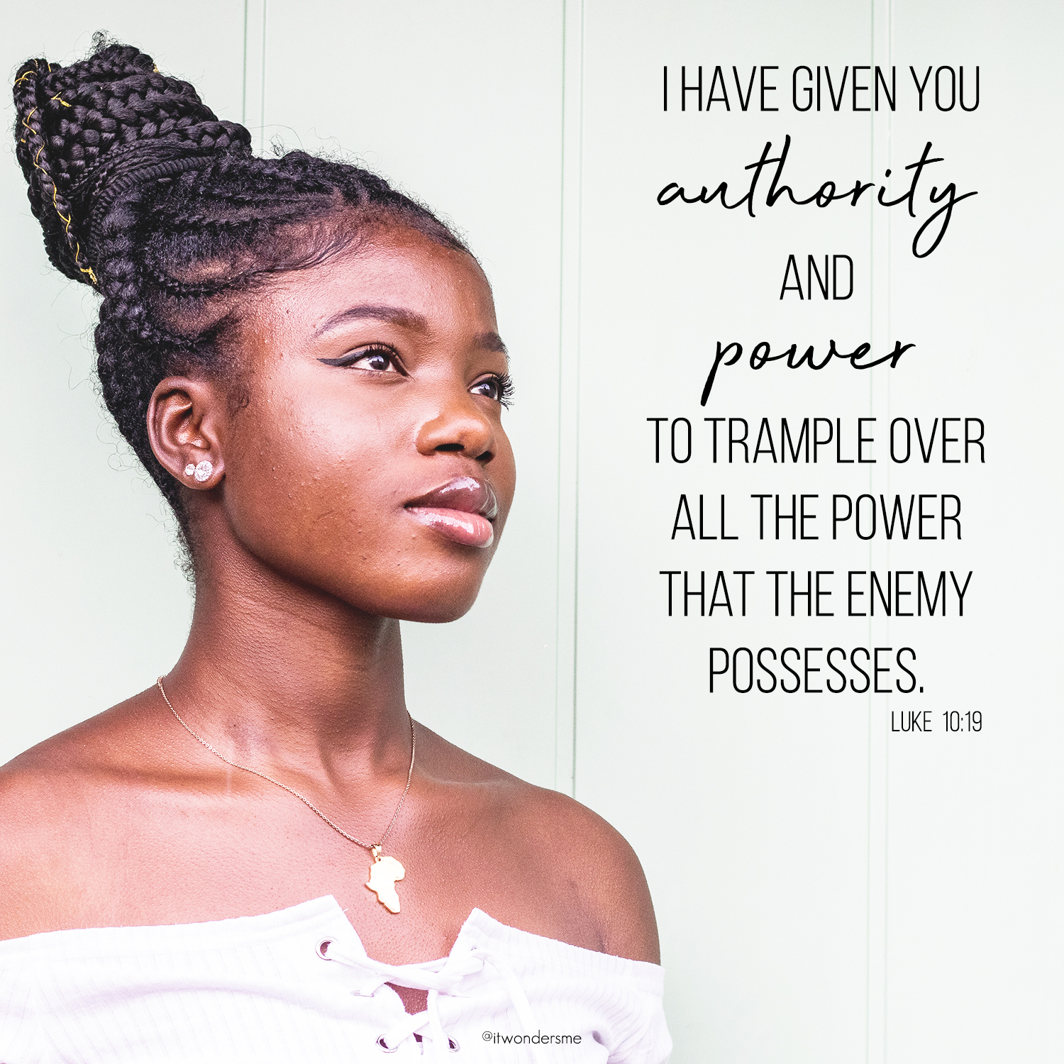 You have authority and power in Jesus