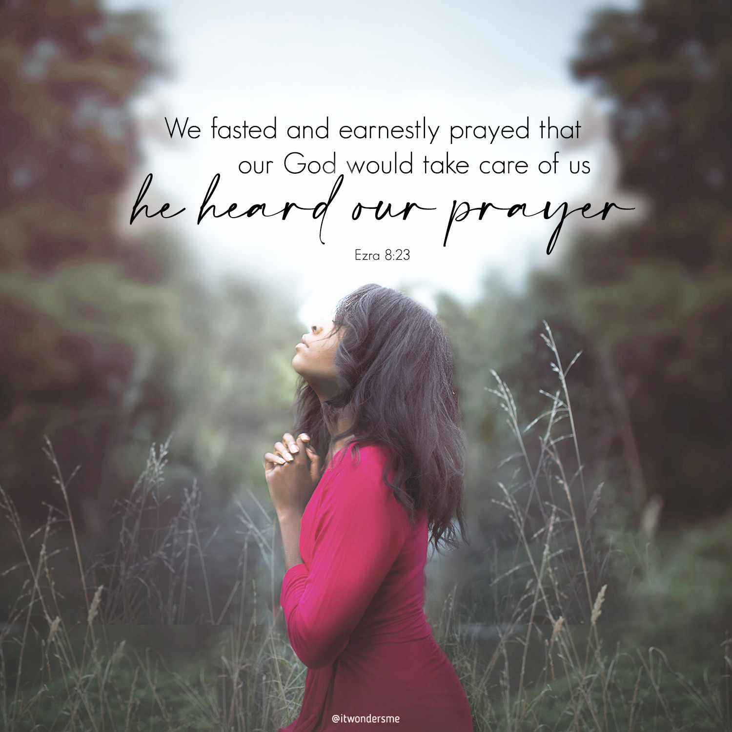 We fasted and God heard our prayer