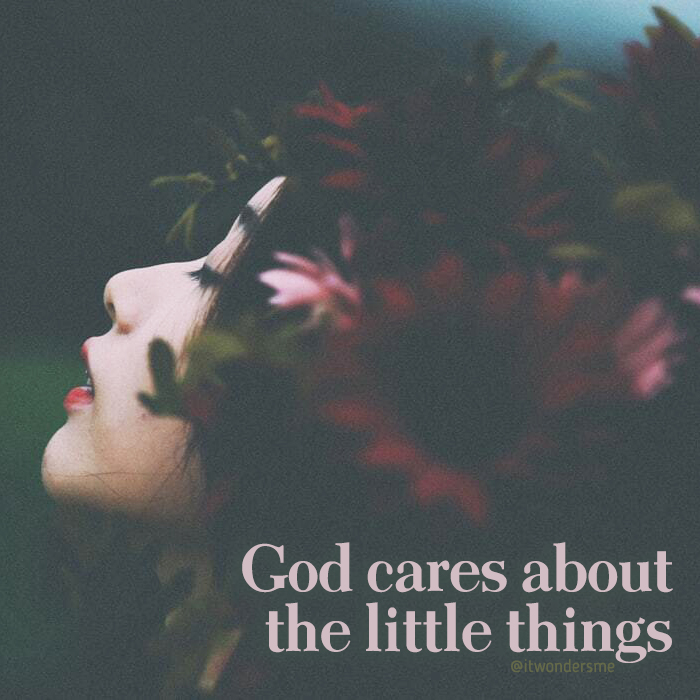 God cares about the little things