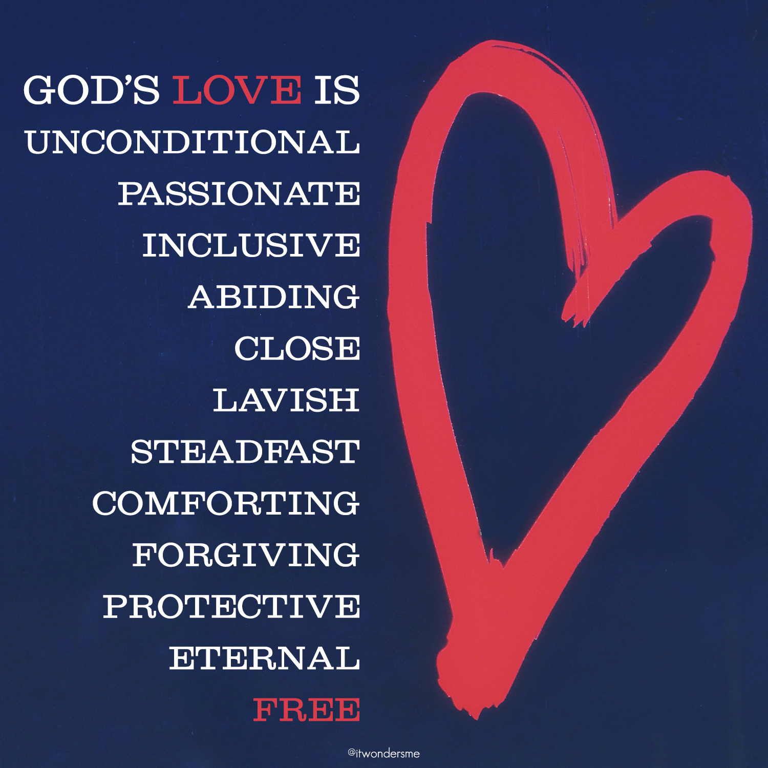 God's love is...