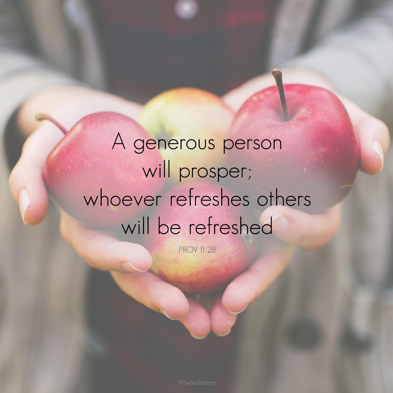 A generous person will prosper