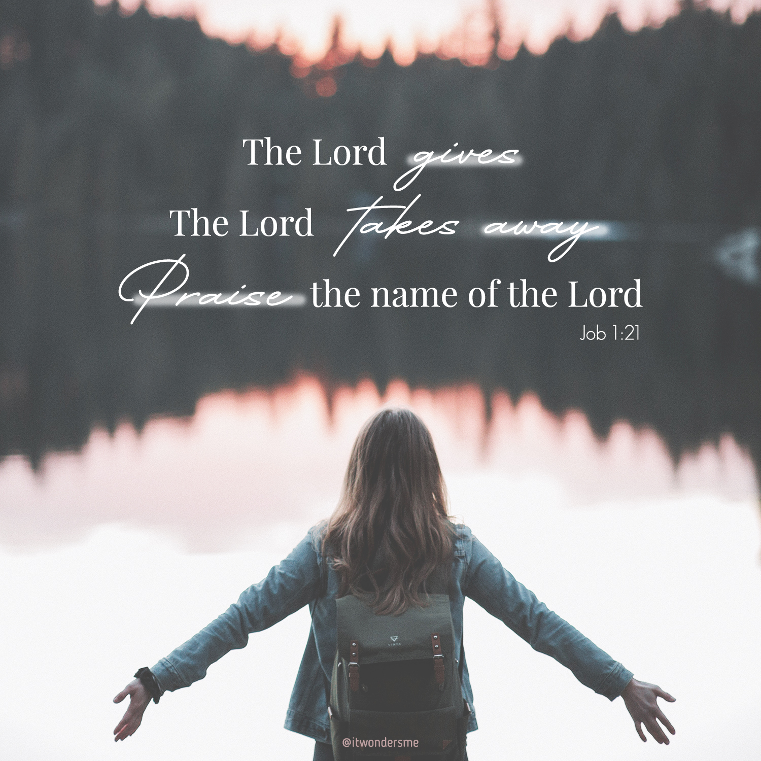 """The Lord gives, and the Lord takes away. Praise the name of the Lord!"" [Job 1:21 ERV]⁣"