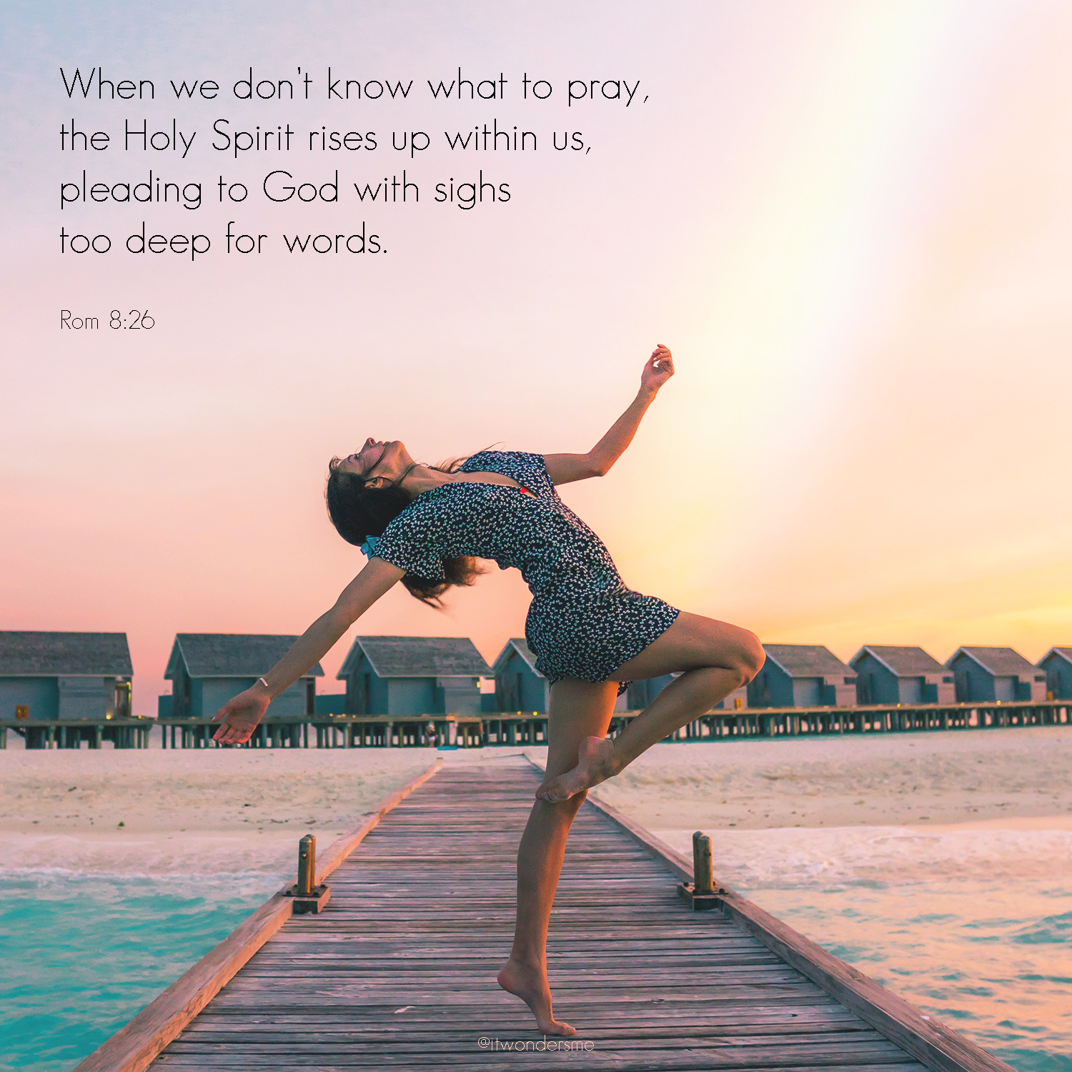 When we don't know what to pray, the Holy Spirit rises up in us.